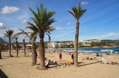 Het zandstrand El Arenal