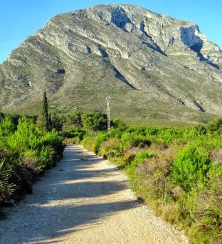 Berg Montgó Jávea Spanje